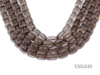 Wholesale 11x16mm Oval Faceted Smoky Quartz Beads Loose String CSM039