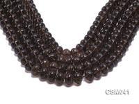Wholesale 10x14mm Wheel-shaped Faceted Smoky Quartz Beads Loose String CSM041