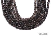 Wholesale 6x8mm Oval Faceted Smoky Quartz Beads Loose String CSM042