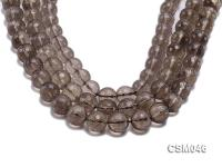 Wholesale 14mm Round Faceted Smoky Quartz Beads Loose String CSM046