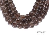 Wholesale 20mm Round Smoky Quartz Beads Loose String CSM047