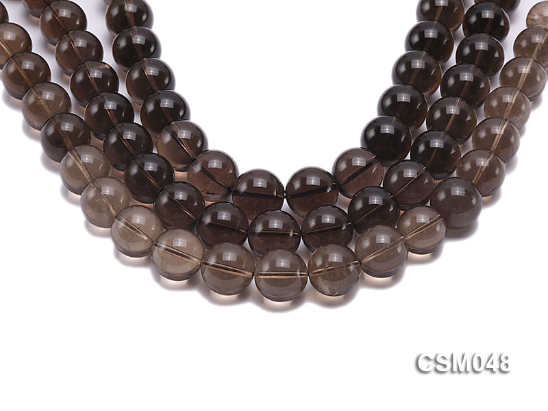 Wholesale 17mm Round Smoky Quartz Beads Loose String big Image 1