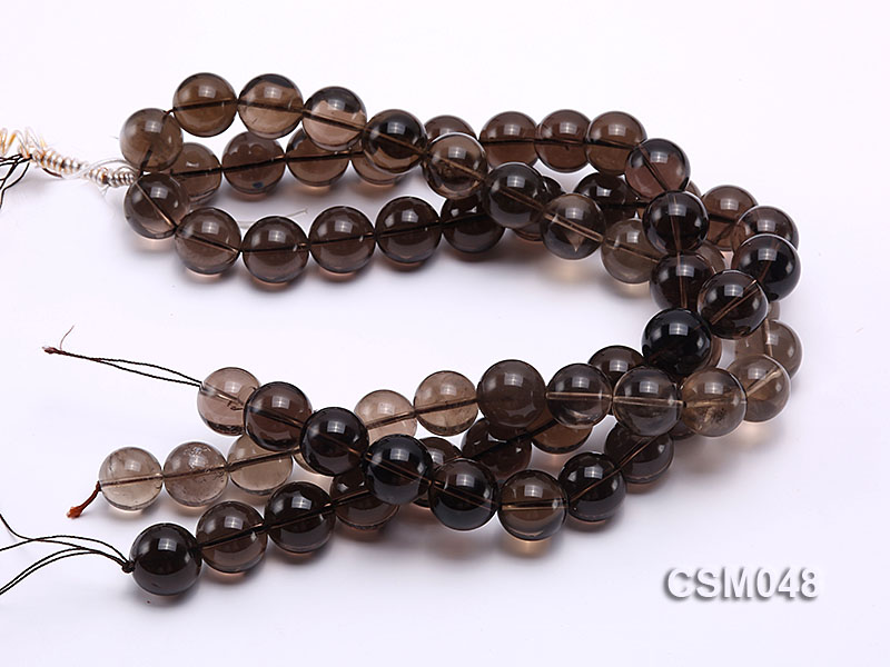 Wholesale 17mm Round Smoky Quartz Beads Loose String big Image 3