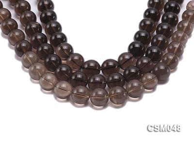 Wholesale 17mm Round Smoky Quartz Beads Loose String CSM048 Image 1