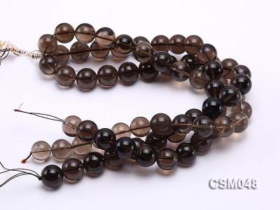 Wholesale 17mm Round Smoky Quartz Beads Loose String CSM048 Image 3