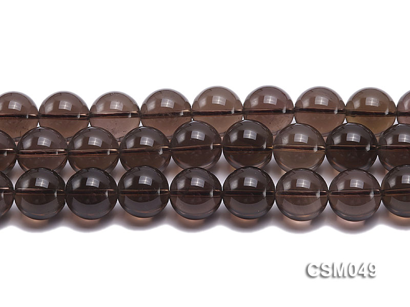 Wholesale 15mm Round Smoky Quartz Beads Loose String big Image 2