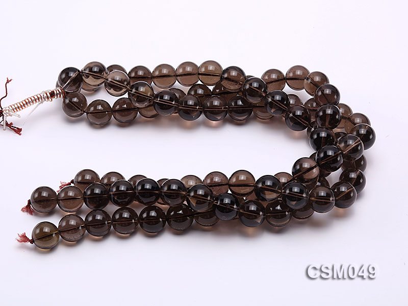 Wholesale 15mm Round Smoky Quartz Beads Loose String big Image 3