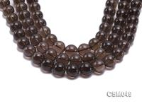 Wholesale 15mm Round Smoky Quartz Beads Loose String CSM049