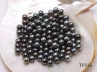 10-11mm Black Round Loose Tahitian Pearls  TP249