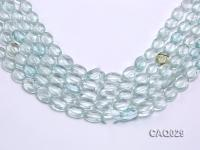 Wholesale 10x14mm Oval Faceted Simulated Aquamarine Beads Loose String CAQ029