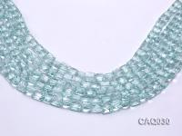 Wholesale 8mm Square Faceted Simulated Aquamarine Pieces Loose String CAQ030
