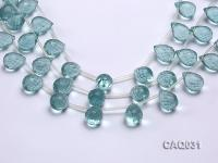 Wholesale 13x19mm Drop-shaped Faceted Simulated Aquamarine Pieces Loose String CAQ031