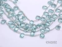 Wholesale 12x16mm Drop-shaped Faceted Simulated Aquamarine Pieces Loose String CAQ032
