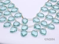 Wholesale 18x25mm Faceted Simulated Aquamarine Pieces Loose String CAQ034