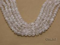 Wholesale 11mm Round Inner-cracked Faceted Rock Crystal Beads Loose String CWL057