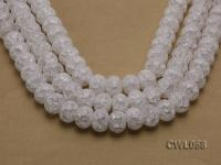 Wholesale 13x18mm Wheel-shaped Inner-cracked Faceted Rock Crystal Beads Loose String CWL058