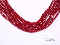 Wholesale 4x6mm Red Faceted Synthetic Quartz Beads Loose String CCQ130