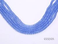 Wholesale 4x6mm Blue Faceted Synthetic Quartz Beads Loose String CCQ131