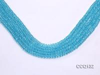 Wholesale 4x6mm Blue Faceted Synthetic Quartz Beads Loose String CCQ132