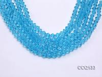Wholesale 6.5mm Blue Faceted Synthetic Quartz Beads Loose String CCQ133
