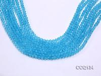 Wholesale 4.5mm Blue Faceted Synthetic Quartz Beads Loose String CCQ134