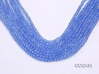 Wholesale 4.5mm Blue Faceted Synthetic Quartz Beads Loose String CCQ135