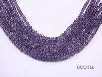 Wholesale 4.5mm Purple Faceted Synthetic Quartz Beads Loose String CCQ136