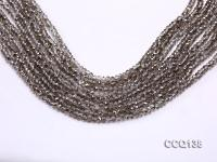 Wholesale 3x4.5mm Gray Faceted Synthetic Quartz Beads Loose String CCQ138