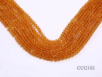 Wholesale 4.5mm Orange Faceted Synthetic Quartz Beads Loose String CCQ139