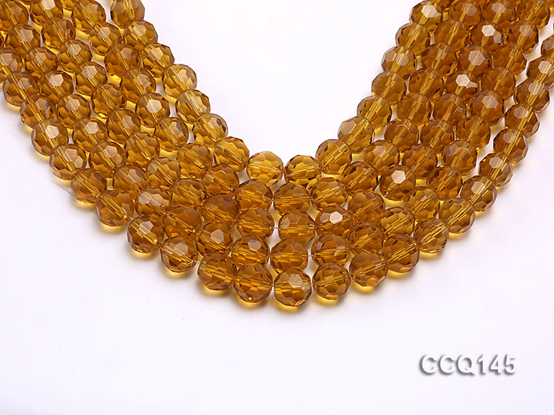 Wholesale 10mm Round Faceted Synthetic Quartz Beads Loose String big Image 1