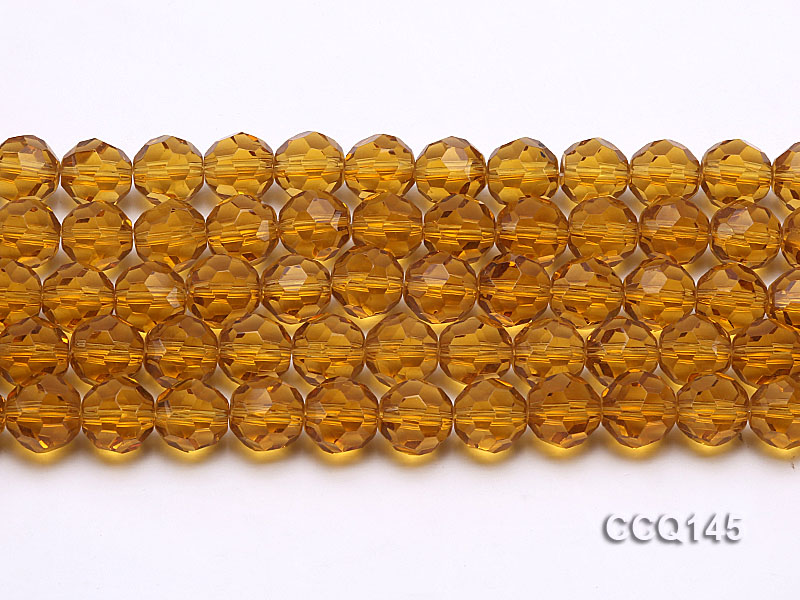 Wholesale 10mm Round Faceted Synthetic Quartz Beads Loose String big Image 2