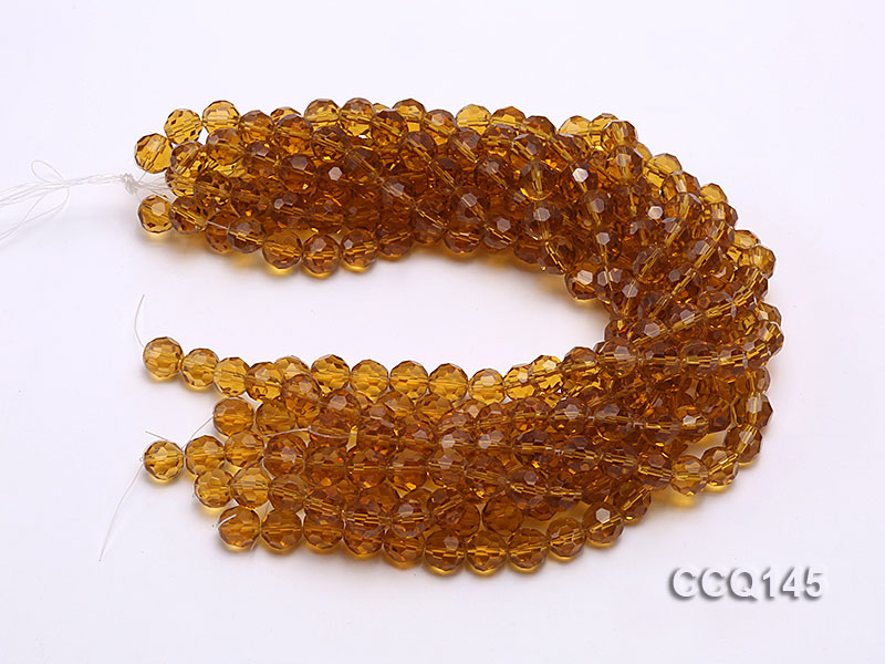 Wholesale 10mm Round Faceted Synthetic Quartz Beads Loose String big Image 3