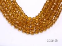Wholesale 10mm Round Faceted Synthetic Quartz Beads Loose String CCQ145