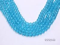 Wholesale 8mm Round Blue Faceted Synthetic Quartz Beads Loose String CCQ146