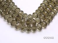 Wholesale 13x17mm Oval Faceted Synthetic Quartz Beads Loose String CCQ148