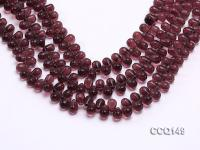 Wholesale 6x9mm Drop-shaped Dark-red Synthetic Quartz Beads Loose String CCQ149
