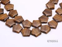 Wholesale 30mm Star-shaped Tiger Eye Pieces Loose String GTG044