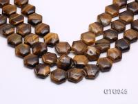 Wholesale 20mm Star-shaped Tiger Eye Pieces Loose String GTG045