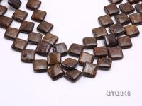 Wholesale 20mm Square Tiger Eye Pieces Loose String GTG046
