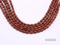 Wholesale 6x10mm Oval Goldstone Beads Loose String GGS025