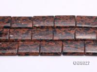 Wholesale 25x35mm Rectangular Goldstone Pieces String GGS027