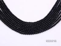 Wholesale 4mm Round Blue Sandstone Beads Loose String GBS018