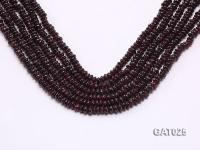 Wholesale 5.5mm Flat Garnet Beads Loose String GAT025
