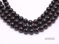 Wholesale 12mm Round Garnet Beads Loose String GAT026