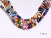 Wholesale 4mm Round Colorful Cat's Eye Beads Loose String CE028