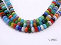Wholesale 8x12mm Flatly Round Colorful Cat's Eye Beads Loose String CE029