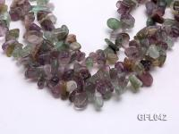 Wholesale 6x15mm Irregular Multi-color Fluorite Chips Loose String GFL042