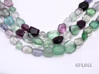Wholesale 13x16mm Irregular Multi-color Fluorite Beads Loose String GFL044