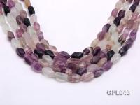 Wholesale 8x16mm Irregular Multi-color Faceted Fluorite Beads Loose String GFL046