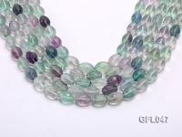 Wholesale 10x14mm Oval Multi-color Faceted Fluorite Beads Loose String GFL047
